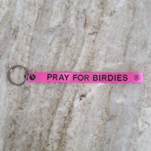 """New G/Fore Golf Keychain """"Pray For Birdies"""" Pink"""